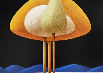 œuvre d'art du peintre Laurent Bouro tableau de la série arbre