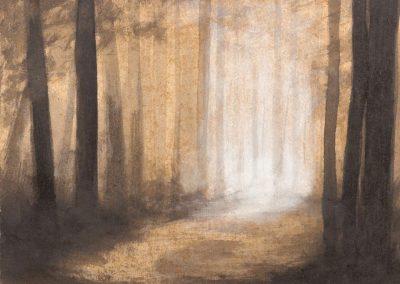 œuvre d'art du peintre Laurent Bouro tableau de la série paysages impressionnistes